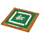 Portable 4-in-1 Traveling Mahjong & Poker Games Set with Mini Table