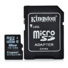Genuine Kingston Micro SD / TF Memory Card w/ SD Adapter - 16GB (Class 4)