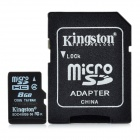 Genuine Kingston Micro SD / TF Memory Card w/ SD Adapter - 8GB (Class 4)