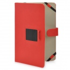 Flip Open Cross Pattern Protective PU Leather Cover Case w/ Stand for 10'' Tablets - Red