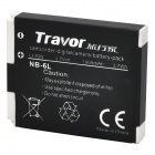 Genuine Travor NB-6L 3.7V 1000mAh Battery Pack for Canon IXUS85IS / IXUS95IS / IXUS200IS + More