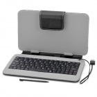 Lichee Pattern Keyboard Cover Case with Stand for 7'' Tablets - Black