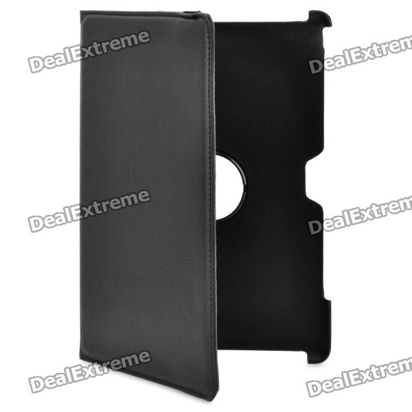 Protective PU Leather Cover Case & Stand for Asus TF201 Tablets - Black myslc 360 degree rotate cover for digma citi 1508 1510 1901 1903 1904 4g 10 1 inch tablet universal pu leather case