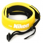 Stylish Anti-Slip Shoulder Strap for Nikon DSLR Camera - Yellow