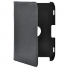 Lichee Pattern Protective PU Leather Cover Case & Stand for Motorola Xoom 2 10.1'' Tablet - Black