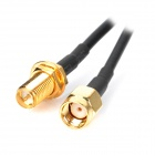 RP-SMA Male to Female Adapter Cable - Black (200cm)