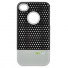 Nice IA151 Detachable Mesh Protective ABS Back Case for Iphone 4 / 4S - Grey + Black