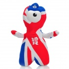 2012 London Summer Olympics Mascot Wenlock Short Plush Doll Toy - Red + White + Blue