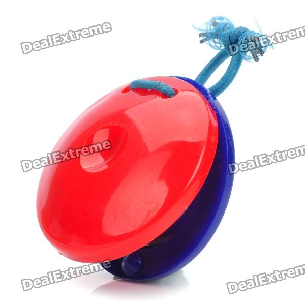 2-Round-Piece Plastic Musical Instrument Rhythm Percussion - Blue + Red