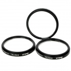 Emolux 52mm Close Up +1 / +2 / +4 Filter Set - Black (3 Pieces Pack)