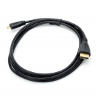 1080p HDMI V1.4 Male to Micro HDMI Male Adapter Cable - Black (180cm)