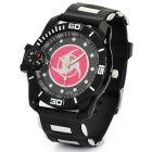 Fashion Naruto Sharingan Silicone & Stainless Steel Analog Wrist Watch w/ Compass (1 x LR626)