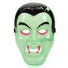Glow-in-the-Dark Halloween Vampire Face Mask - Green