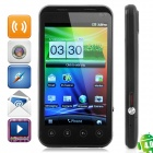 "B2000+ Android 4.0 WCDMA Bar Phone w/ 4.0"" Capacitive, GPS, Dual-SIM and Wi-Fi - Black"