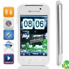 "HG21 Android 2.3 GSM Bar Phone w/ 3.2"" Resistive, Quad-Band, Dual-SIM, Wi-Fi and TV - White"