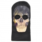 Double Hole Balaclava Knitting Face Mask - Skull Head with Hair