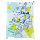 ROCK Cute Bear Series Protective Plastic Case for The New Ipad - White + Yellow + Blue