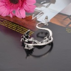 Cool Dragon Shaped Alloy Earring - Silver
