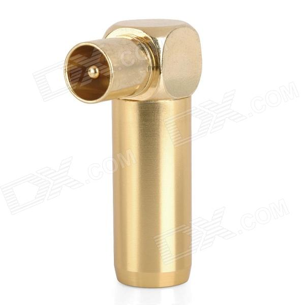 Copper Plated TV Socket Plug aérea - Golden