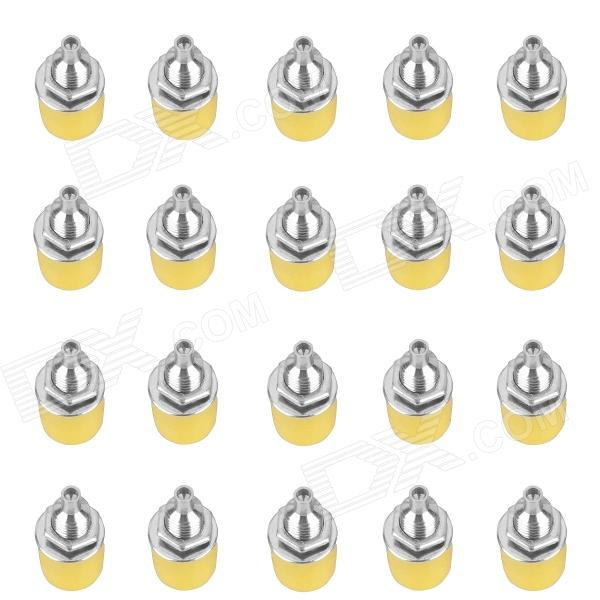 Speaker Audio 4mm Banana Jack Socket Connectors - Yellow (20-Piece Pack) ootdty 10pcs audio speaker wire banana plug connectors 4mm adapter real cable entry