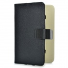 Protective PU Leather Hard Carrying Case for 7'' Tablets - Black