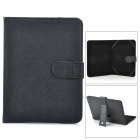 Protective PU Leather Carrying Case for Android Tablets w/ 8-inch 4:3 Touchscreens - Black