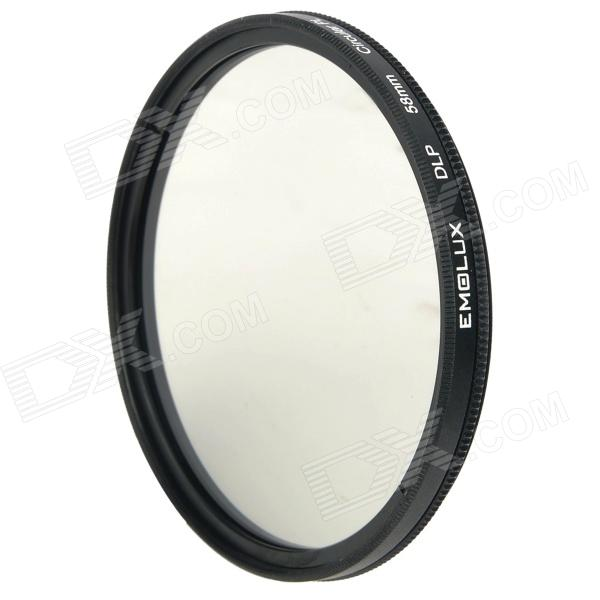 Emolux 58mm CPL Circular Polarizer Lens Filter - Black cpl circular polarizing lens filter 58mm