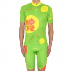 2012 London Olympics Style Short Sleeve Cycling Bicycle Riding Suit Jersey + Shorts Set - (Size-M)