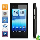 "N9 + Android 2.3 GSM Bar Phone w / 3,6 ""Resistive, Quad-Band, TV und Wi-Fi - Black"