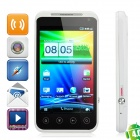 "B2000+ Android 4.0 WCDMA Bar Phone w/ 4.0"" Capacitive Screen, Dual-SIM, GPS and Wi-Fi - White"