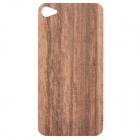 Protective Wooden Back Skin Sticker w/ Screen Protector for iPhone 4 / 4S (Ebony)