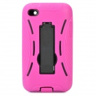 Cool Robot Style Full Protection Protective Case for iPod Touch 4 - Deep Pink + Black