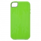 Fashion Vertical Stripe Style Protective TPU Case for Iphone 4 / 4S - Green