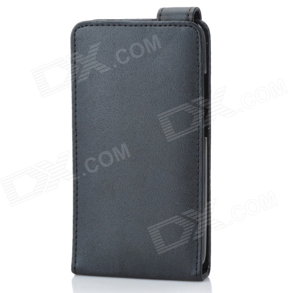 Protective PU Leather Flip Cover Case for HTC ONE X / S720E - Black