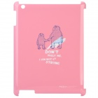 ROCK Cute Bear Pattern Protective Plastic Case for The New Ipad - Pink