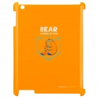 ROCK Bear Series Protective Plastic Case for The New Ipad - Orange (I Wanna Be Free)