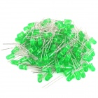510~520nm 800~1000MCD 5mm LED - Green (100-Piece Pack)