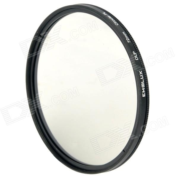 Emolux 72mm CPL Circular Polarizer Lens Filter - Black benro 72mm cpl filter shd cpl hd ulca wmc slim filters waterproof anti oil anti scratch circular polarizer filter free shipping