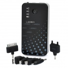 LAMBO LB8000 8000mAh Mobile External Power Battery Charger w/ 7 x Adapters - Black