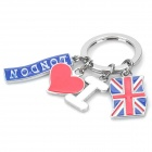 I Love London Key Ring - Red + Blue