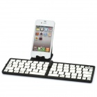K87 Portable Folding Wireless Bluetooth V3.0 70-Key Keyboard - Black