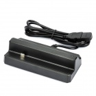 USB Charging Dock Cradle + EU Plug AC Charger Set for HTC ONE X / S720E