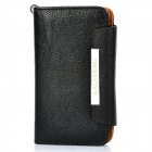 KALAIDENG Protective PU Leather Flip-Open Case for Samsung i9100 - Black