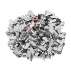 DIY Parts RCA Socket Connectors - Silver + Red (50-Piece Pack)