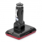 "1.8"" LCD Car MP3/MP4 Player FM Transmitter w/ Remote Controller / MMC / SD - Red"