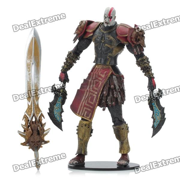 God of War 2 PVC Action Figure Display Toy Doll - Kratos in Ares Armor with Blades [yamala] 2pcs set 18cm anime one piece luffy ace pvc action figure model toys christmas toy model gifts for children