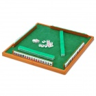 Portable Traveling Mahjong Games Set with Folding Desk - Green