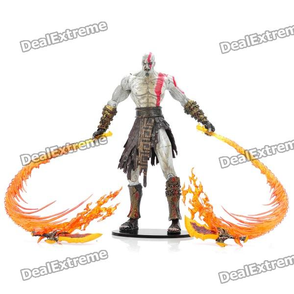 God of War 2 PVC Action Figure Display Toy Doll - Kratos with Flaming Blades original box sonic the hedgehog vivid nendoroid series pvc action figure collection pvc model children kids toy
