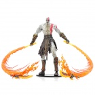 God of War 2 PVC Action Figure Display Toy Doll - Kratos with Flaming Blades
