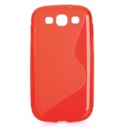 Protective PVC Case for Samsung Galaxy S3 / i9300 - Red